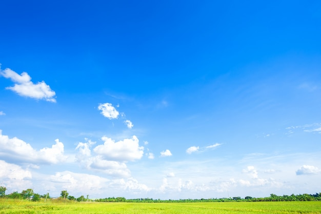 Blue sky background texture with white clouds