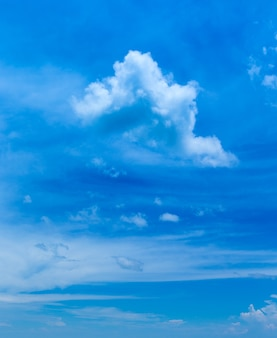小さな雲と青い空の背景