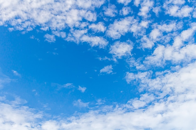 Blue sky and cirrus clouds can be used as background