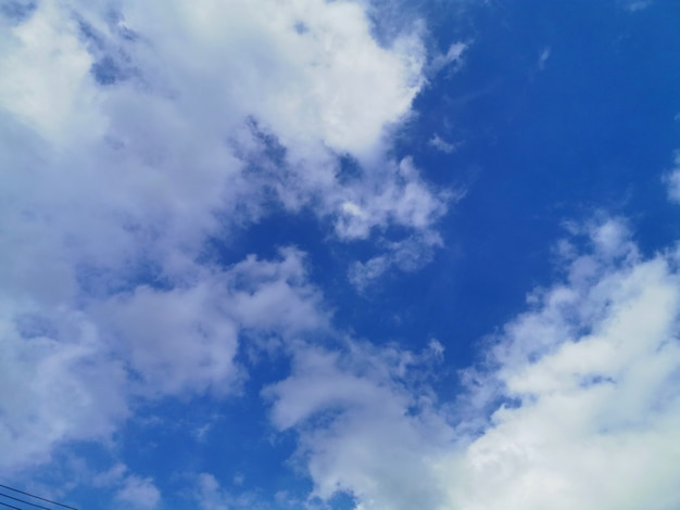 Blue sky and clear white cloud
