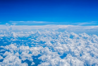 Blue sky cloud background textured