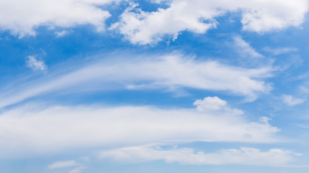 Blue sky and clouds panorama background image