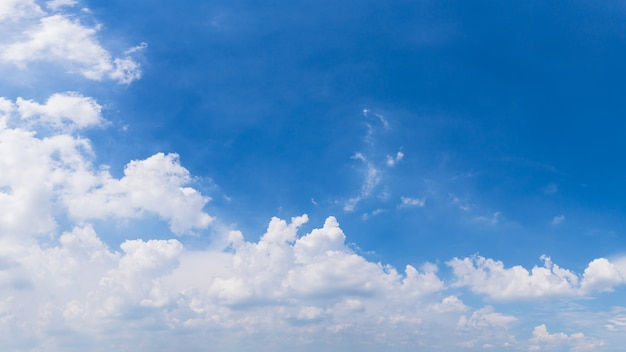 Blue sky and clouds panoramic background image