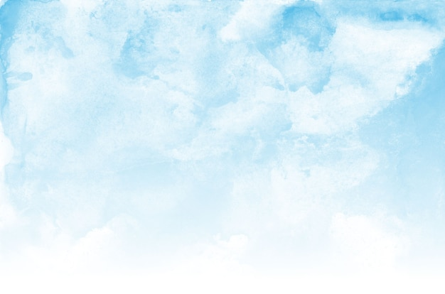 Blue sky and clouds watercolor texture background