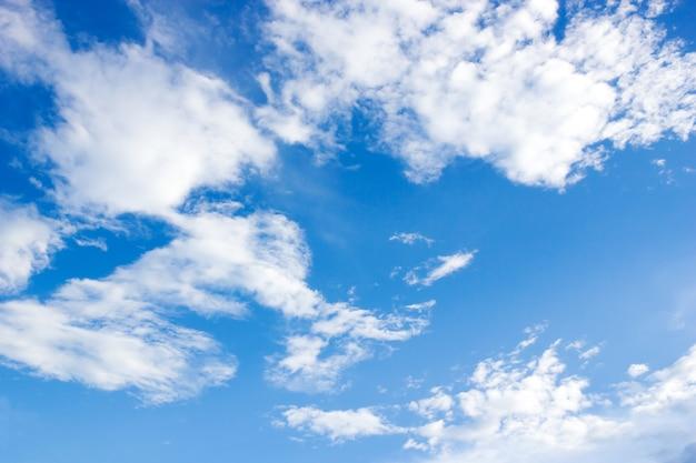 Blue sky and cloundy