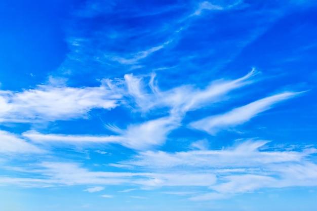 Blue sky and fleecy clouds