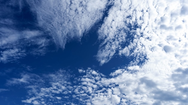 Blue sky nature background in good weather day.