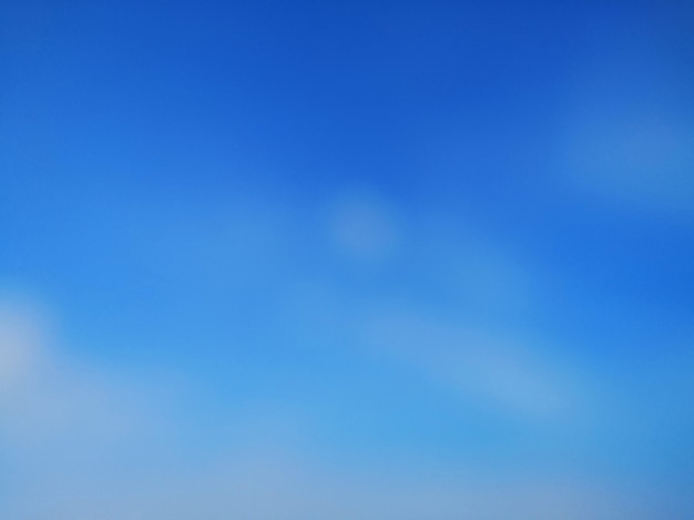 Blue sky white cloud blurred abstract wallpaper background