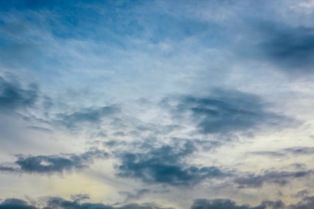 Blue sky and white clouds landscape