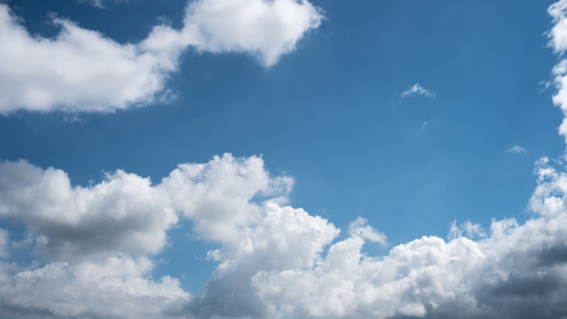 Blue sky with bright clouds