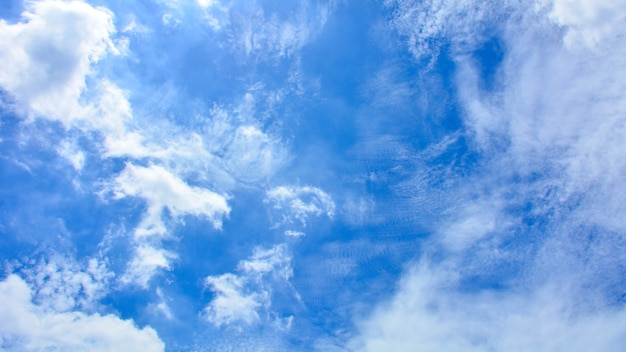 Blue sky with cloud in summer