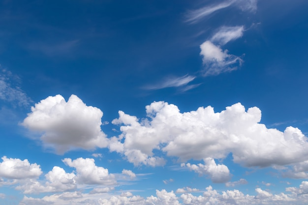 Blue sky with clouds for background or backgrop nature concept
