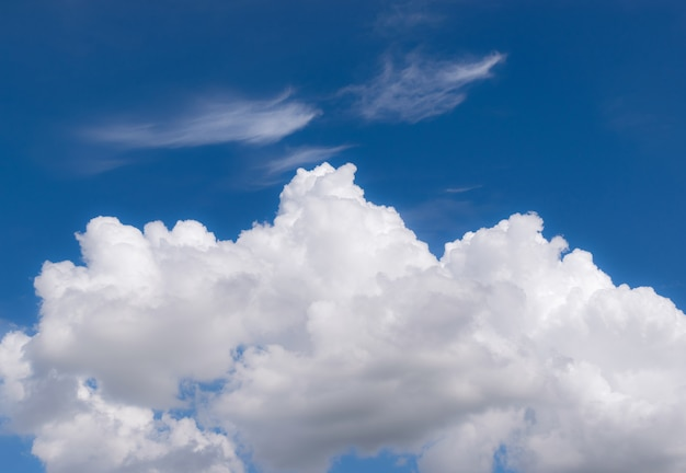 Blue sky with clouds closeup for background or backgrop nature concept