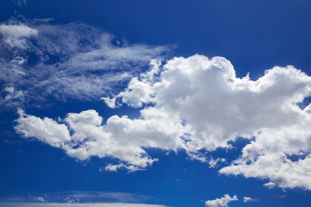 Blue sky with clouds in a sunny day