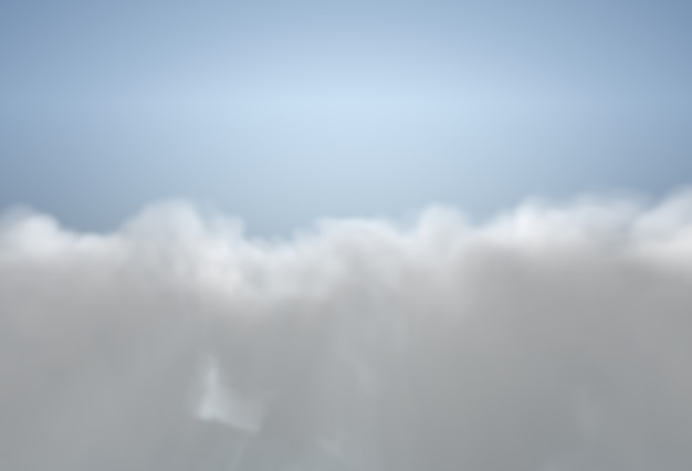 ふわふわの雲の背景を持つ青い空