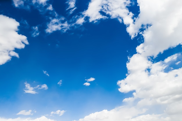 Blue sky with huge clouds