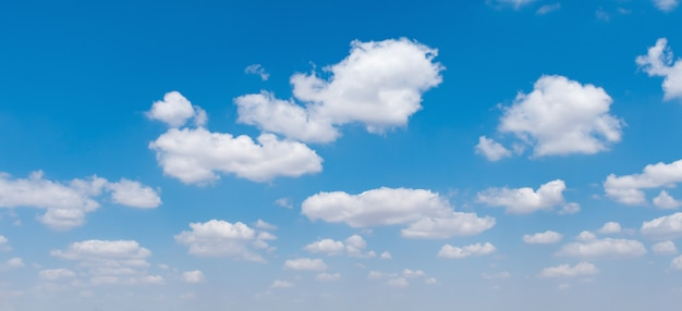 Blue sky with white cloud nature view
