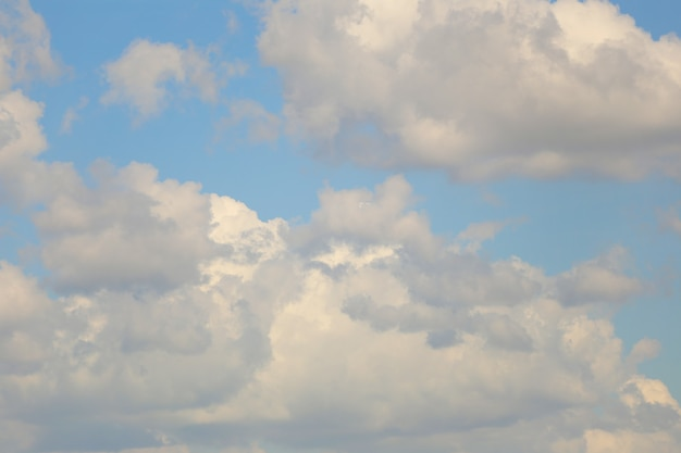 Blue sky with white clouds in the daytime