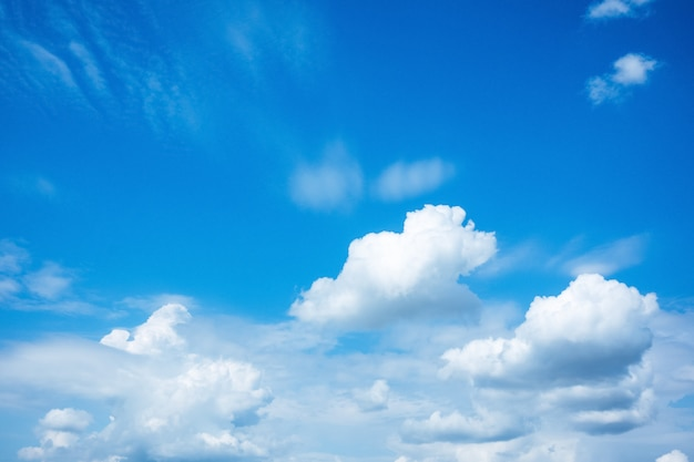 Blue sky with white clouds nature background