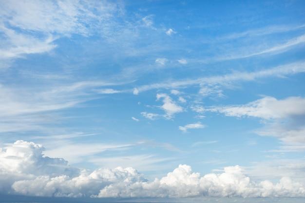흰 구름과 푸른 하늘, 여름 하늘