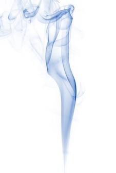 흰색 배경에 파란색 연기 컬렉션