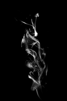 Blue smoke isolated on a black background. template for design