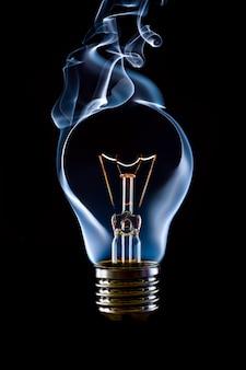 青い煙ランプ電球
