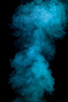 Blue smoke texture black background