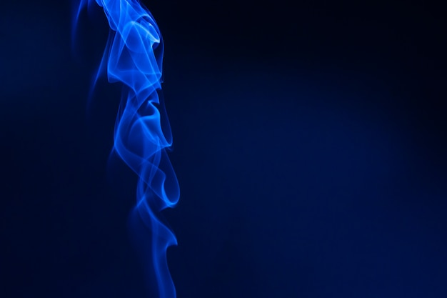 Blue smoke wave for template texture