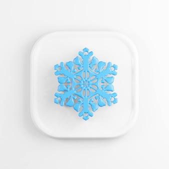 Иконка синий снежинка