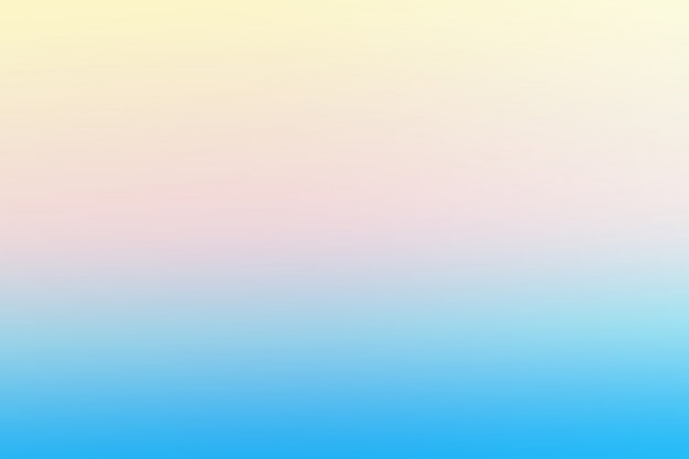 Blue  and   soft yellow   abstract gradient template background
