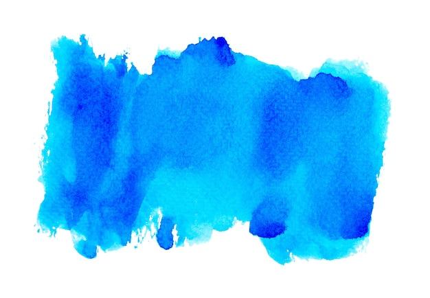 青い水しぶき水彩