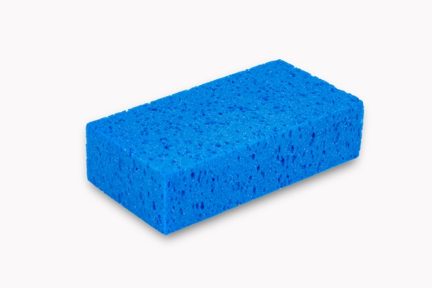 Blue sponge isolated