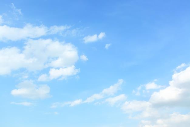 Голубое весеннее небо с облаками - естественный фон