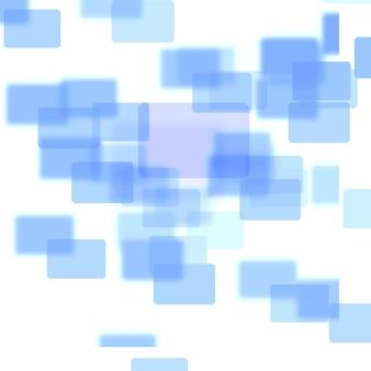 Blue squares melding together