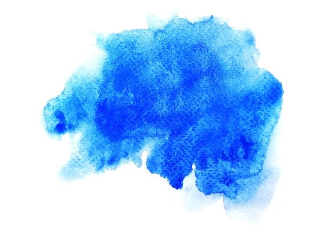Синий пятно акварель фон.