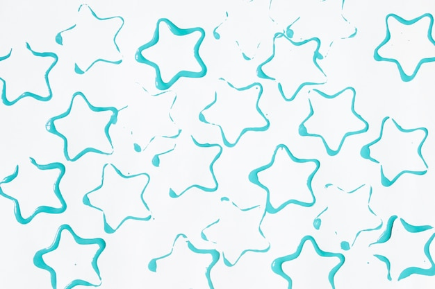 Blue star-shaped stains
