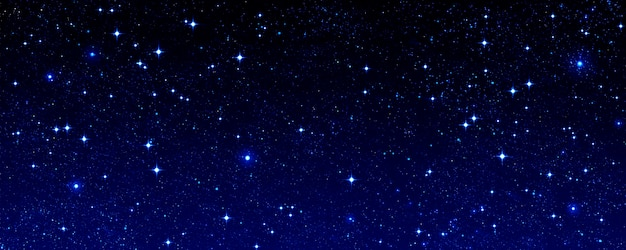 Голубое звездное небо