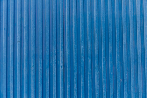Blue strip corrugated metal background