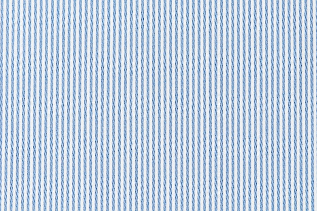 Blue striped line on white fabric textured backdrop