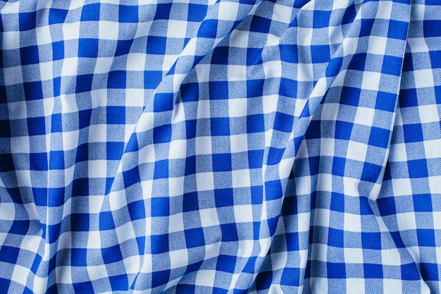 Blue table cloth texture background