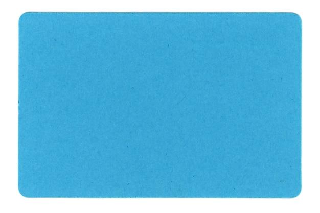 白の上に分離された青いタグラベル