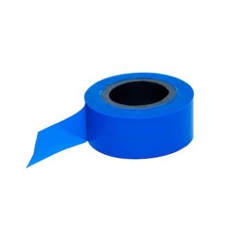 흰색에 파란색 테이프