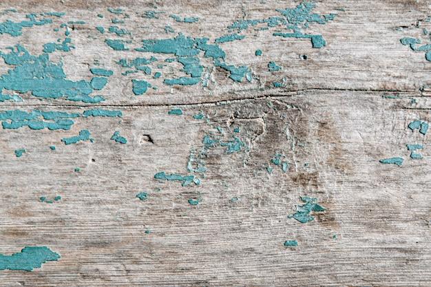 大まかな木製のフェンスボードの背景の青いテクスチャ。
