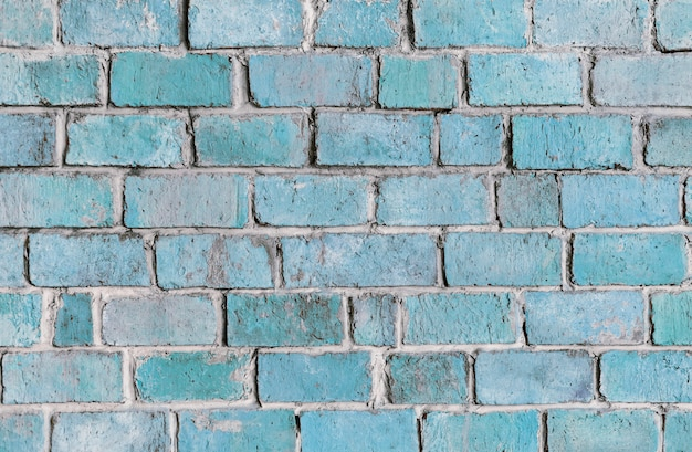 Blue textured brick wall background