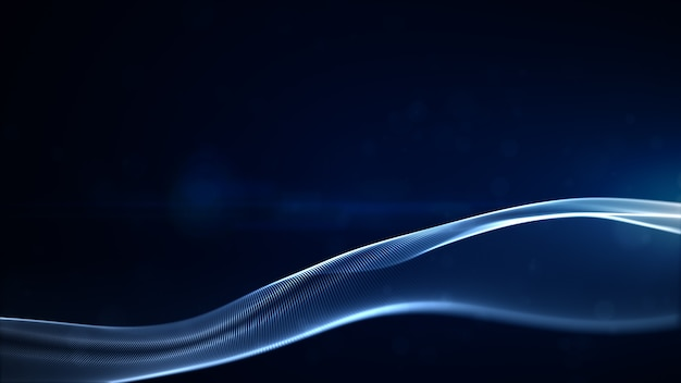 Blue textured particles and light abstract background