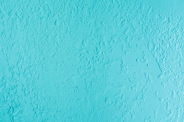 Blue textured plastered wall. fresh otvetka in commercial premises, designer renovation in the house
