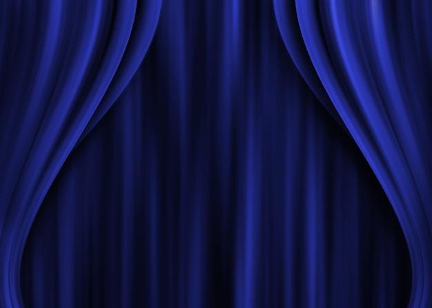 青い劇場のカーテン