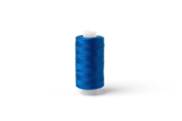 흰색 바탕에 파란색 스레드입니다.