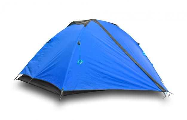 Синяя туристическая палатка